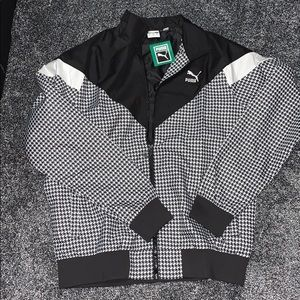 New Puma AOP Houndstooth Woven Jacket